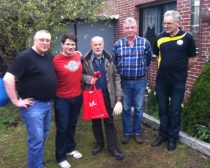 Die Gewinner der BEM 2013  v.l..n.r.: Edgar Ribbeheger, Stefan Wickenfeld, Walter Breuckmann, Hans Truszkowski, Franz Schulze Bisping